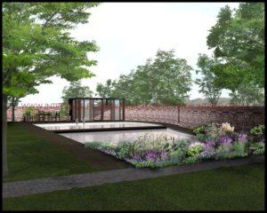prjekt otoczenia basenu - ogród pod Krakowem
