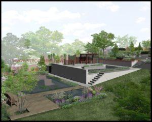 nowoczesny ogród z basenem okolice Krakowa
