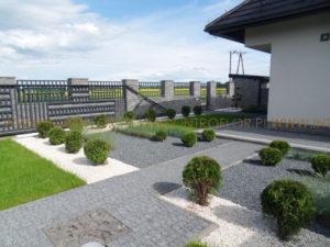 ogród nowoczesny pod Krakowem